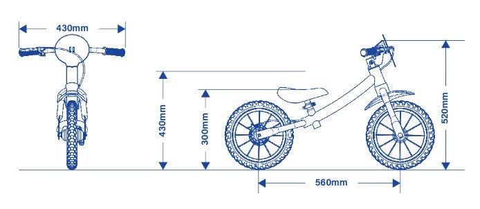 Bicicleta Infantil de Equilíbrio Balance Azul