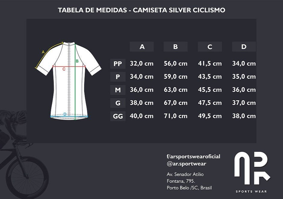 Camisa Ciclismo Manga Curta Água Rara Silver Ocean