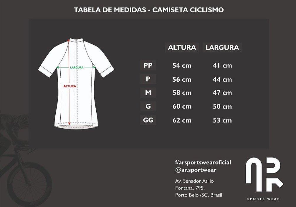 Camisa de Ciclismo Silver Água Rara