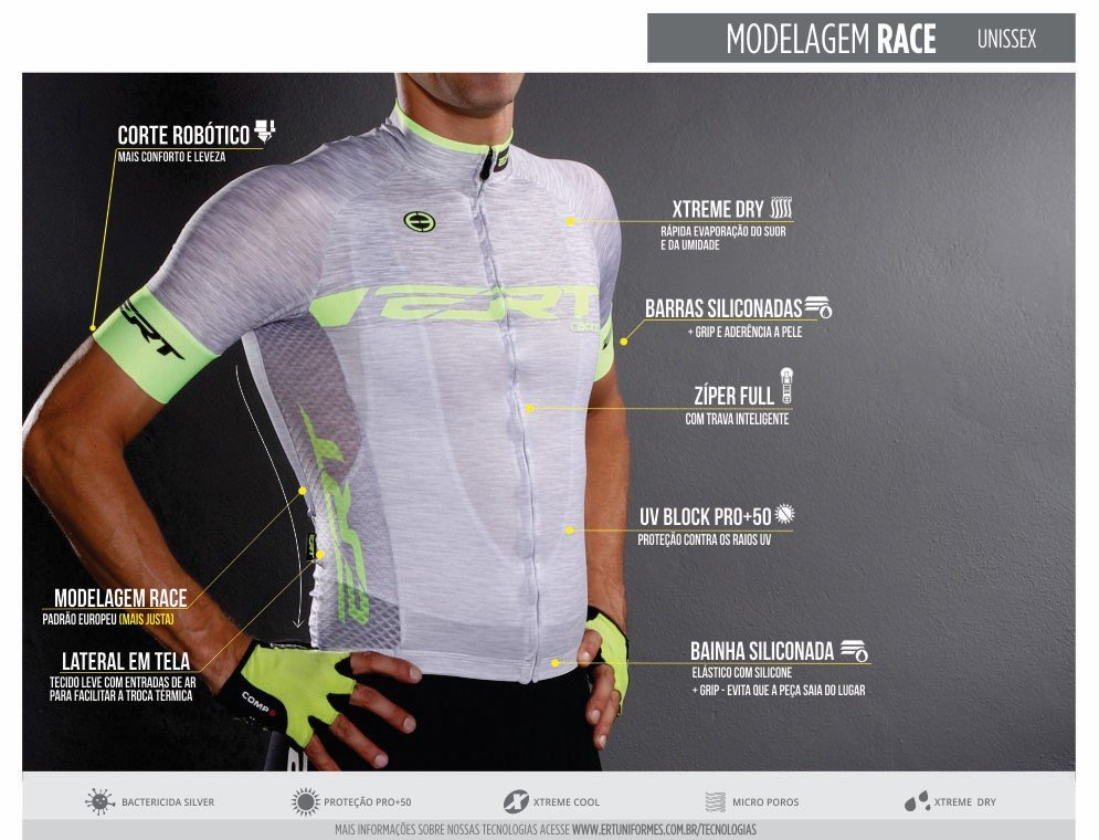Camisa Ciclismo Masculina Ert Elite Campeão Mundial