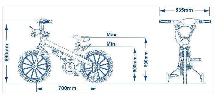 Bicicleta Infantil Aro 16 Apollo