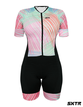 Macaquinho De Ciclismo Feminino Astiste Manga Curta Sportxtreme