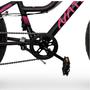 Bicicleta Infantil Aro 24 Bella Nathor Preta/Rosa