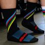 Meia De Ciclismo Hupi Stripes