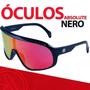 Óculos Ciclismo Absolute Nero Brilhante Lente Vermelha